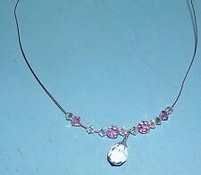 Crystal Aurora Borealis Necklace Signed CC USA