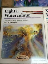 7  WATERCOLOUR PAINTING INSTRUCTION BOOKS