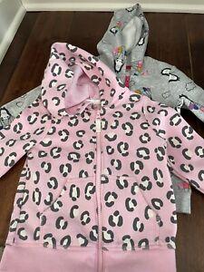 Cat & Jack Toddler Girls Sweatshirt Size 3T Grey Lot of 2  Full Zip