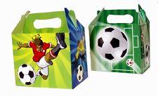 6 Fußball Party Boxen - Spielzeug Beute Mittagessen Flach Geschenk Hochzeit/Kids