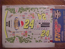 NEW 2003 JEFF GORDON #24 PEPSI BILLION DOLLARS 1/24-1/25 SLIXX DECAL SHEET