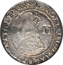 ND (1635-1636) GREAT BRITAIN CHARLES II SILVER 2 PENCE NGC VF-20