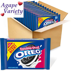 OREO Double Stuf Chocolate Sandwich Cookies, Family 1.25 Pound (Pack of 12)
