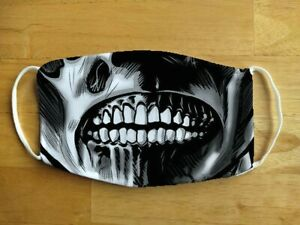 Face Mask Zombie Horror Skull Monster Mouth Reusable Protection Face Cover UK