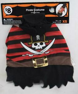 Halloween PIRATE Dog Costume XS X-Small Outfit NEW