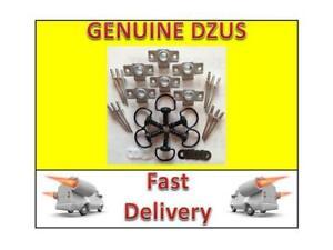 6 Black Dzus Fasteners fairing fasteners 17mm D ring 6x DZUS 6 mm clip & washers