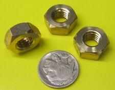 Metric Hex Nut, Brass, DIN 934, RH,  M10 x 1.5 mm x 8mm Height, 10 Pcs