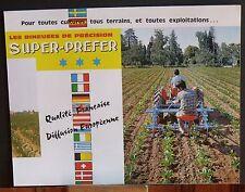 ▬► Prospectus Bineuse RIBOULEAU Super-Preffer Tracteur Someca Massey