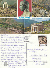 1990's Multi Views Of Delphi Phocis Greece Colour Postcard