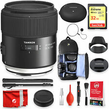 Tamron SP 45mm F/1.8 Di VC USD w/ hood for Canon DSLR Cameras with Tap-In