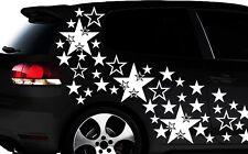 93-teiliges Sterne Star Auto Aufkleber Set Sticker Tuning WANDTATTOO Blumen xxxm