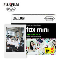 50 Fujifilm Fuji Instax Mini Film White Sheet for 7 7s 8 10 20 25 50s 50i SP1 dw