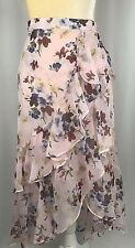 Chelsea Violet Wrap Skirt Maxi Flare XS Boho High Low Gypsy Pink New $98