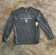 Champion West Virginia Mountaineers Long Sleeve Dry-Fit  Shirt Size Small