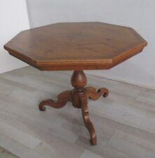 Tavolo ottagonale intarsiato in noce abete larice acero - 800 - tavolino tondo