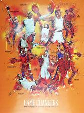 Basketball Poster Black Sports History Wall Art Print African American (18x24)