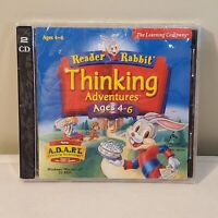 Reader Rabbit Thinking Adventures PC CD Rom Ages 4-6 - Educational Learning -NEW