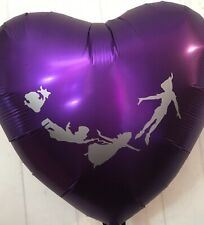"""Peter Pan 18"""" Foil Heart Helium Balloon Party Decoration Tinkerbell"""