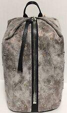 NEW Aimee Kestenberg Tamitha Studded Distress Gunmetal Leather Backpack Handbag