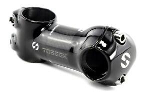 NEW 1 1/8'' Toseek 3K Carbon Fiber 25.4mm Bike Stem - 7° Angle 80mm Glossy Black