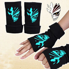 Anime Bleach Kurosaki ichigo Half Finger Glove Cotton Mitten Cosplay Luminous