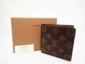 Authentic LOUIS VUITTON Monogram Wallet Bi-fold M61675 Marco Men's Vintage