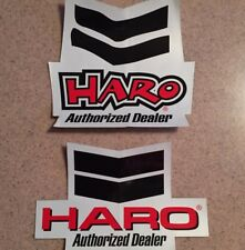 Haro Bicycle's 2 Piece Authorized Dealer Old School Decal Set- Mint!