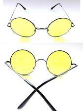 Sonnenbrille 70er Jahre Style Runde Gläser  Anti-Blend Brille Autofahrerbrille