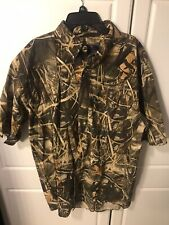 Beretta Mens Camoflauge Padded Shooting Shirt Size Large Button Up Short Sleeve