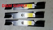 "Set of 3 Heavy Duty XHT  52"" Mower Blades to fit Ferris Snapper 5101756 icd Deck"