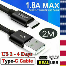 2M 6Ft Fast Charger Cord Type-C Usb-C Cable For Samsung Galaxy Note8 S8 S9 S10