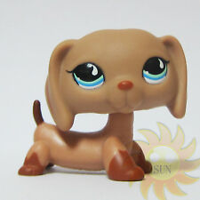 Littlest Pet Shop LPS Collection Animal Toys #1211 Brown Dachshund Doxie Dog B1