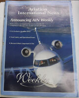 Aviation International News Magazine Announcing AIN Weekly May 2000 FAL 072115R
