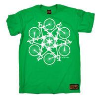 Cycling Bicycle Circle Kaleidoscope funny top Birthdayátee T SHIRT T-SHIRT