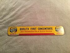 """VINTAGE ADVERTISING ALWAYS QUALITY FIRST CONCENTRATE SIGN WOOD PRESS BOARD 36"""""""