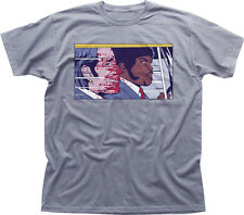 PULP FICTION POP TRAVOLTA SAMUEL L JACKSON  heather cotton t-shirt 9892