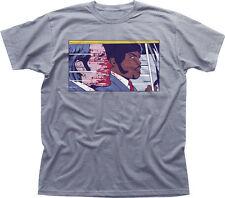 PULP FICTION POP TRAVOLTA SAMUEL L JACKSON  heather cotton t-shirt 9892