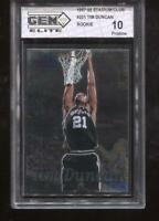 Tim Duncan RC 1997-98 Stadium Club #201 HOF Spurs Rookie GEM Elite 10 Pristine