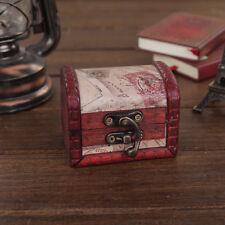 Vintage Decorative Trinket Jewelry Wooden Storage Box Handmade Treasure Case Hot