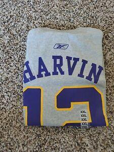 Percy Harvin Minnesota Vikings #12 Gray NFL Reebok Jersey T Shirt XXL