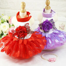 New Pet Puppy Small Dog Lace Princess Tutu Dress Skirt Clothes Apparel Costume