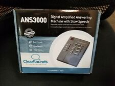 CLEARSOUNDS ANS3000 Amplified Answering Machine, Black