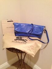 BURBERRY LARGE PETAL PATENT LEATHER FOLDED CLUTCH BAG NWT