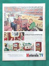 New listing 1952 Vintage Magazine Televison Ad ~ Motorola Console w/ Glare Guard