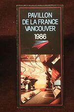 Worlds Fair Expo 1986 Vancouver France Pavilion Color Fold Out Brochure NICE