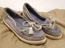 TIMBERLAND Lt Blue Leather Slip On Loafers Shoes Flats US Sz 5?