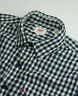 Levi's Gingham Check Shirt Mens Size M Medium  Double Faced Cotton Long Sleeve
