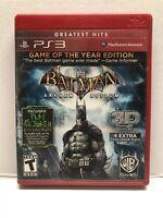 Batman: Arkham Asylum -- Game of the Year Edition (Sony PlayStation 3, 2010)