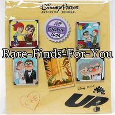 "Disney Parks Pixar ""UP"" Movie Carl and Ellie 4-Pin Booster Pack Set (NEW/SEALED)"