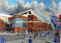 Ibrox Stadium GTM Fine Art A4 Print - Rangers Football Club